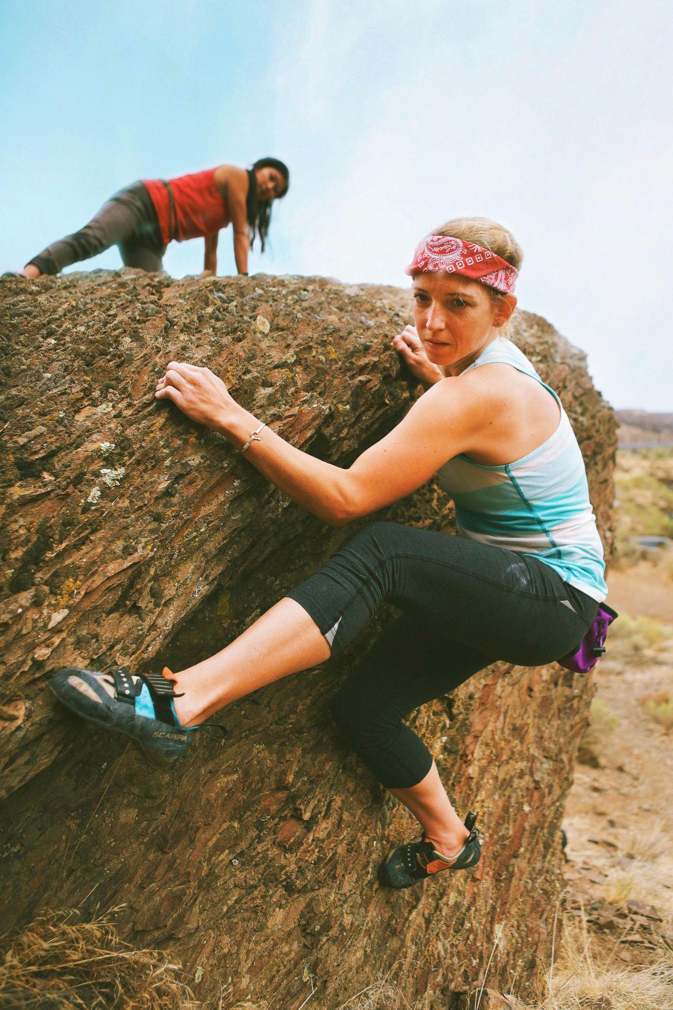Sexist climber photoshoot