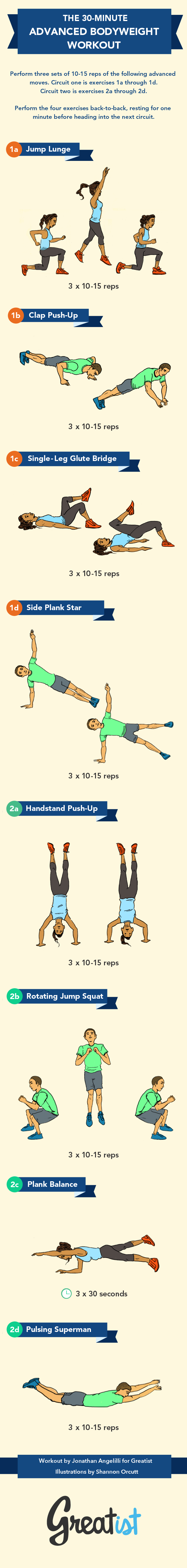 30-Minute Advanced Bodyweight Workout