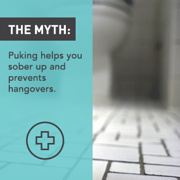 Myths About Alcohol: Puking Helps You Sober Up