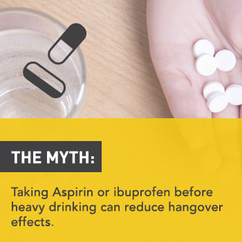 Myths About Alcohol: Taking Aspirin Before Drinking Helps Reduce Hangovers