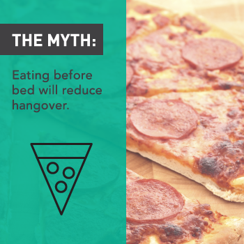Myths About Alcohol:  Eating Before Bed Reduces Hangover