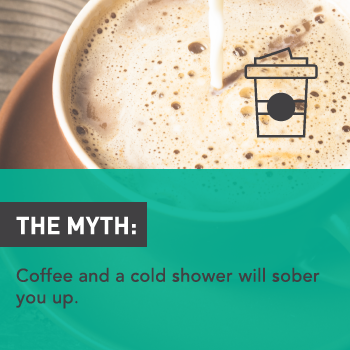 Myths About Alcohol: Coffee and a Cold Shower Will Sober You Up