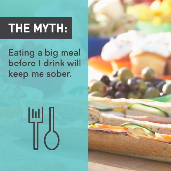 Myths About Alcohol: Eating Before Alcohol Will Keep You Sober