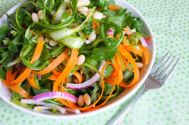 Arugula, Asparagus, and White Bean Salad