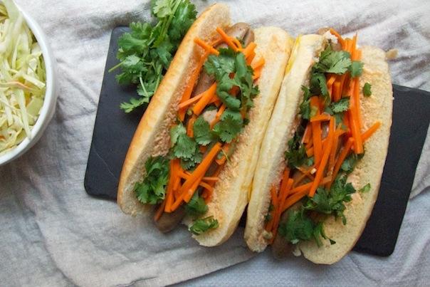 Banh Mi Hot Dogs