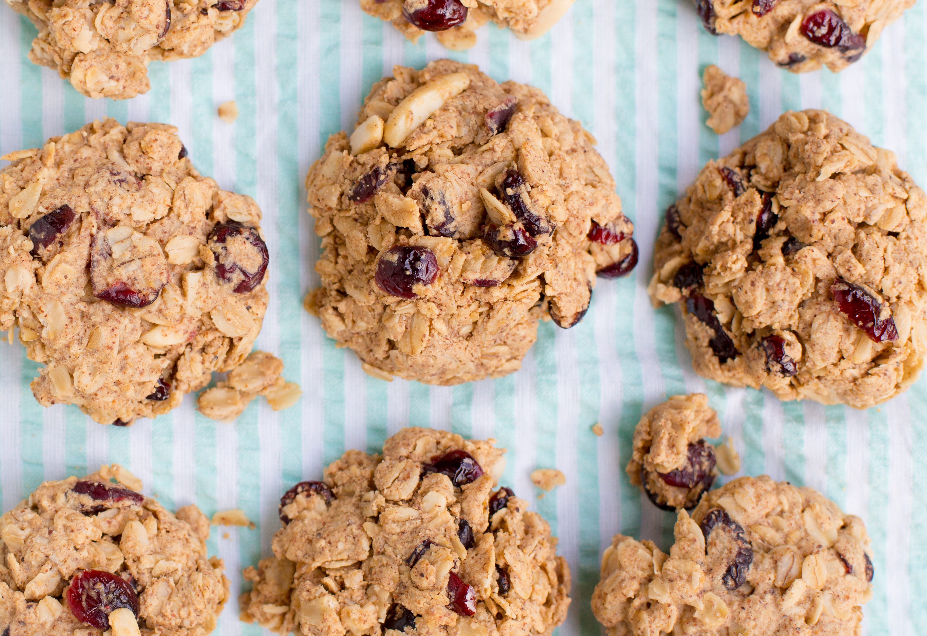 Cranberry Almond Protein Cookies Greatist