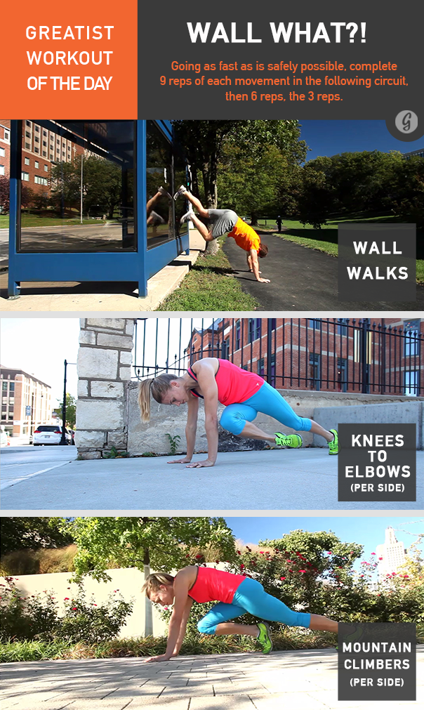 Greatist Workout of the Day Wall What?!