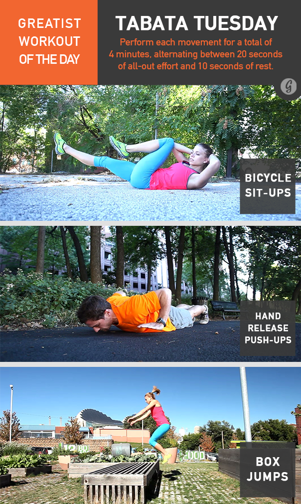 Greatist Workout of the Day Tabata Tuesday
