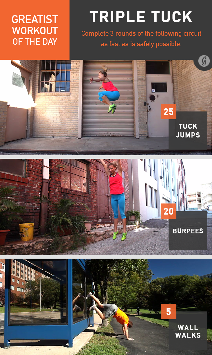 Greatist Workout of the Day: Triple Tuck