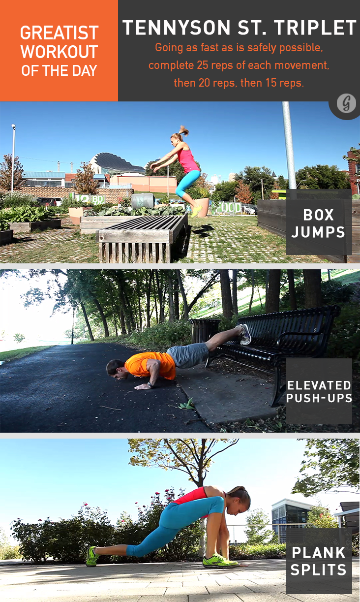 Greatist Workout of the Day: Tennyson St. Triplet