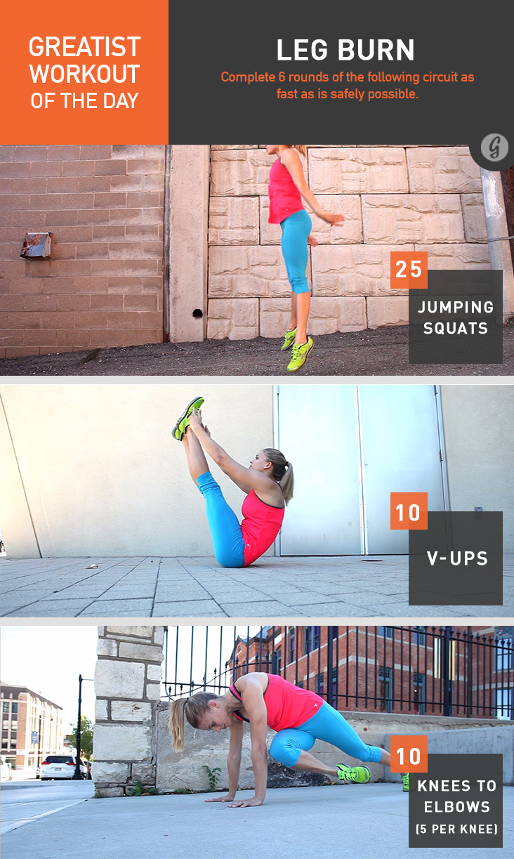 Greatist Workout of the Day: Leg Burn