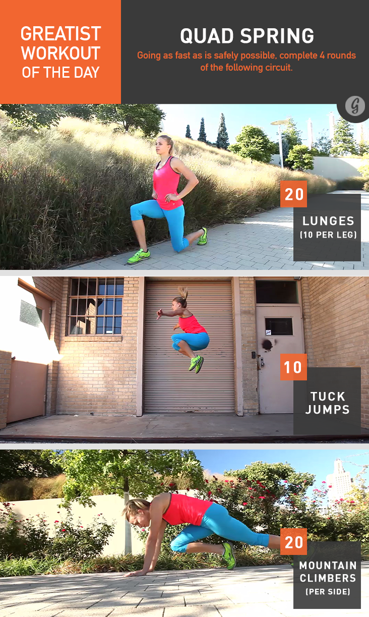 Greatist Workout of the Day: Quad Spring