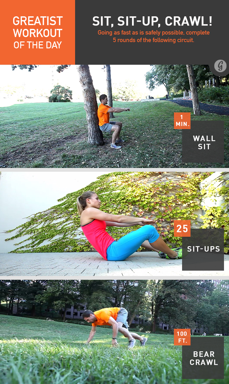 Greatist Workout of the Day: Sit, Sit-Up, Crawl!