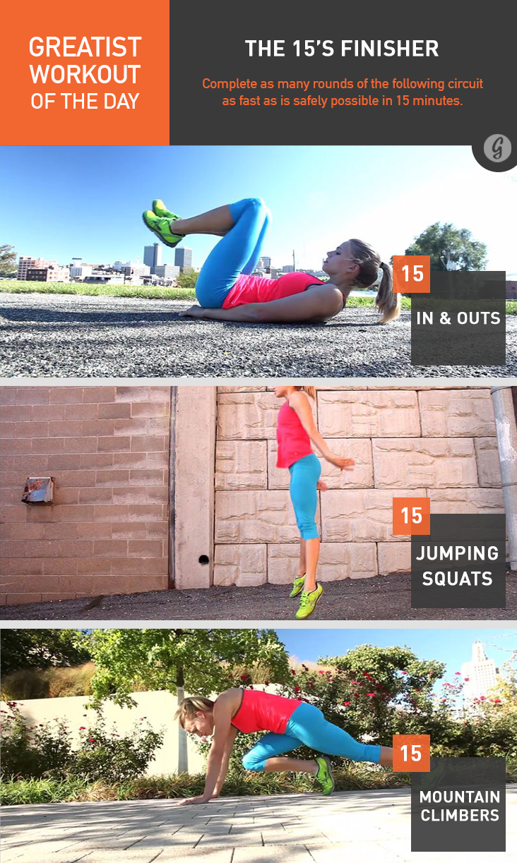 Greatist Workout of the Day: 15's Finisher