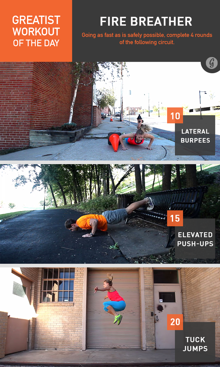 Greatist Workout of the Day: Fire Breather