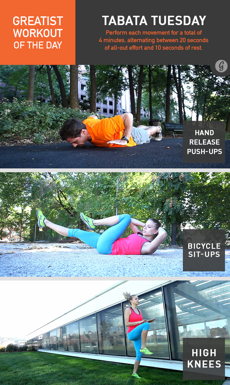 Greatist Workout of the Day: Tabata Tuesday