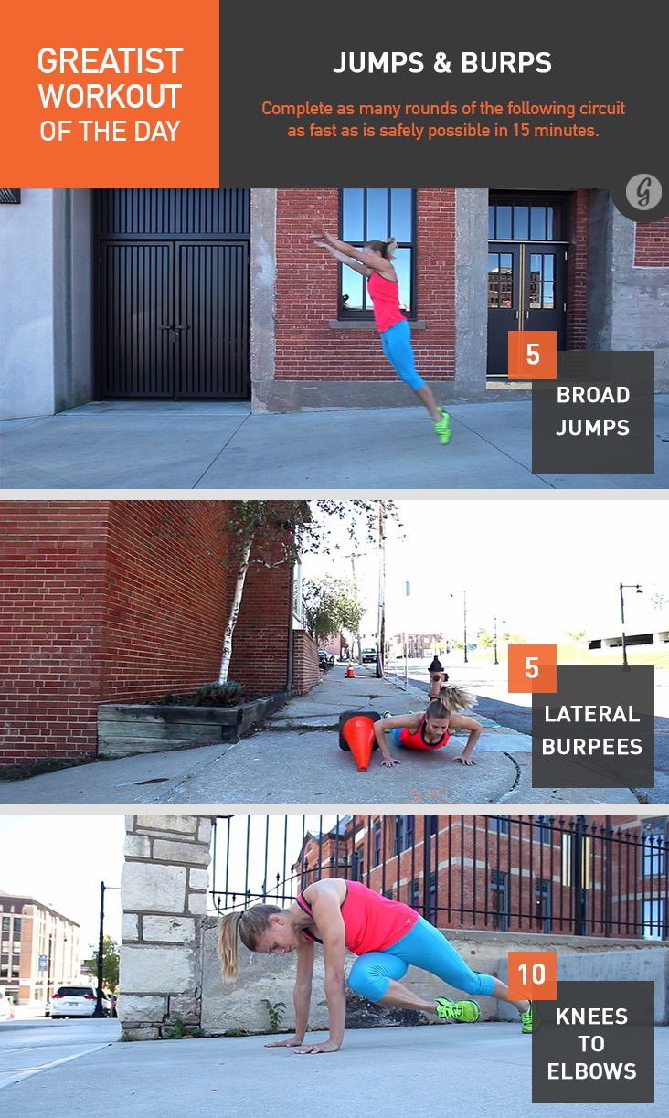 Greatist Workout of the Day: Jumps & Burps