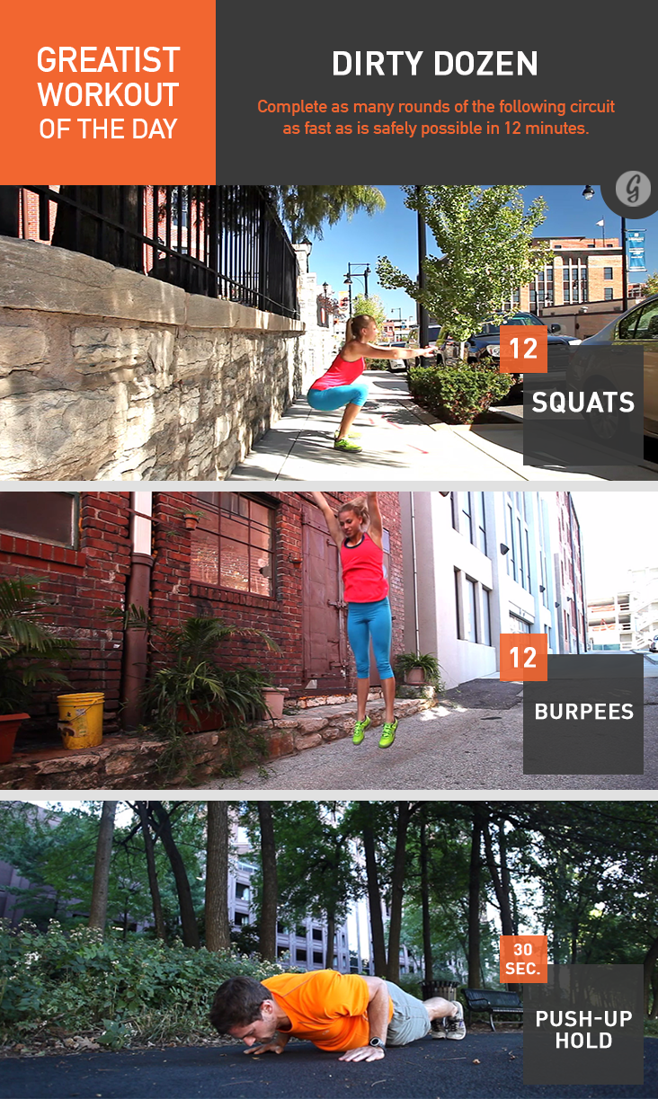 Greatist Workout of the Day: Dirty Dozen