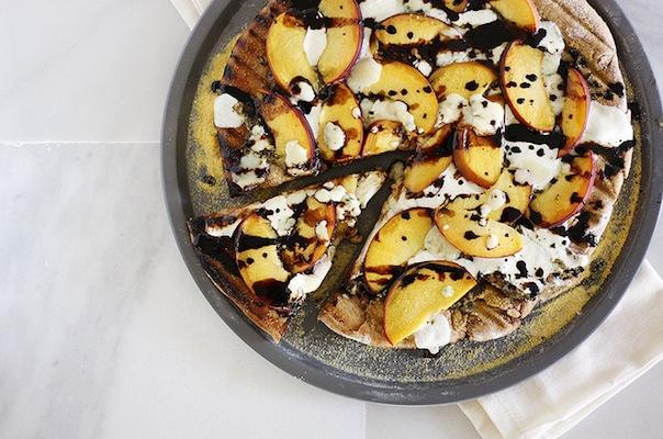 Gorgonzola Peach Pizza