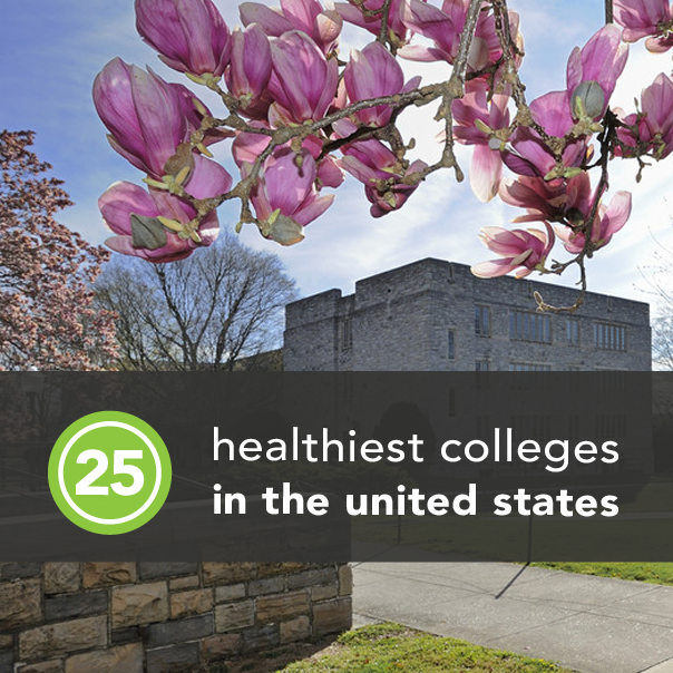 <p>With the end of the school year drawing near, we've rounded up the healthiest schools across America. We're praising the top 25 colleges committed to creating the best environment for leading a fit, healthy, and happy life. Find out if you'll be return