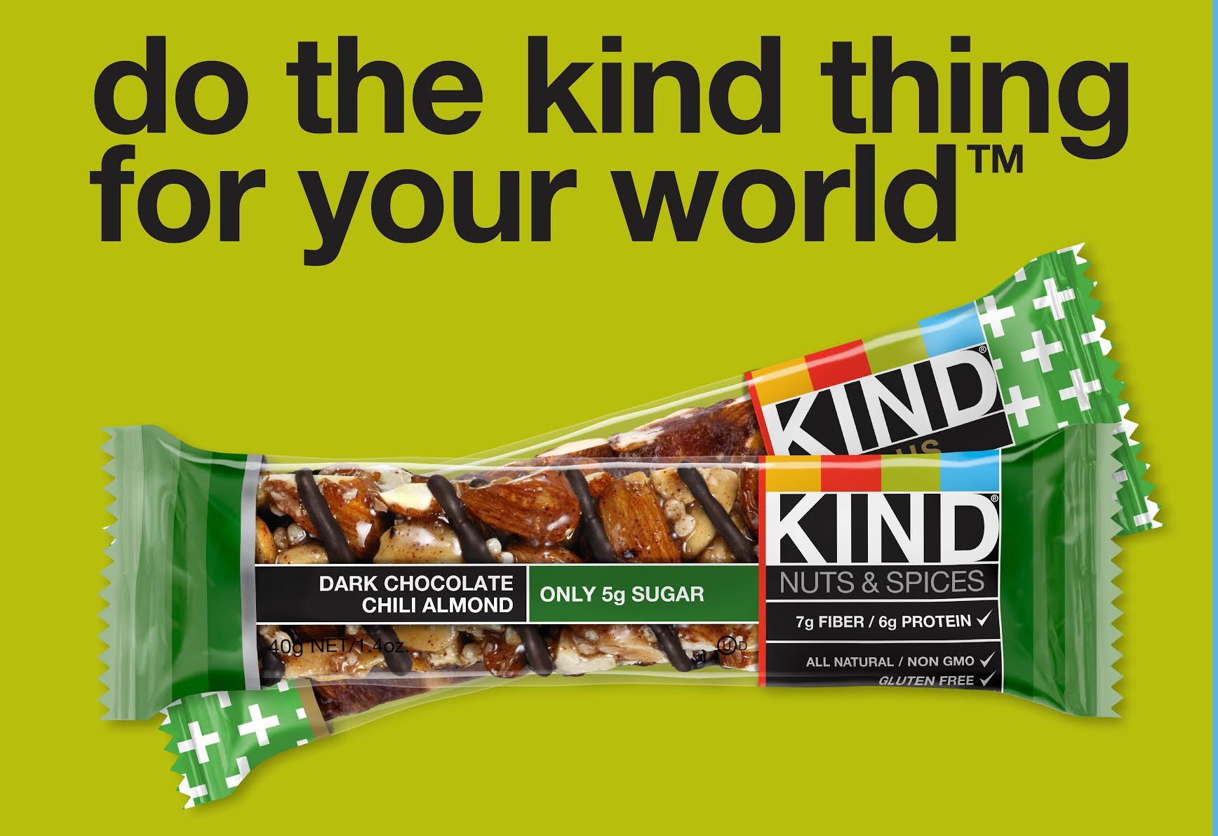 KIND Snacks Ad3: Green - Dark Chocolate Chili Almond