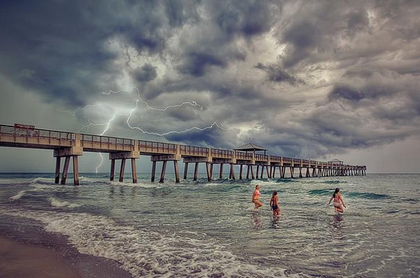 Lightning on Beach