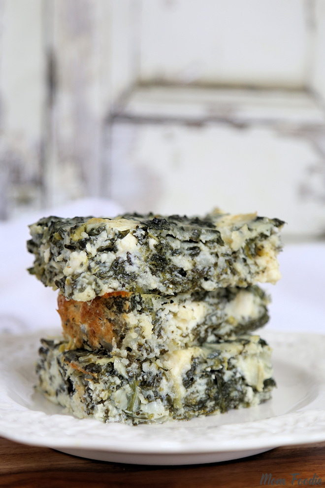 Mom Foodie_Low Carb Spanakopita Cottage Cheese And Egg Casserole