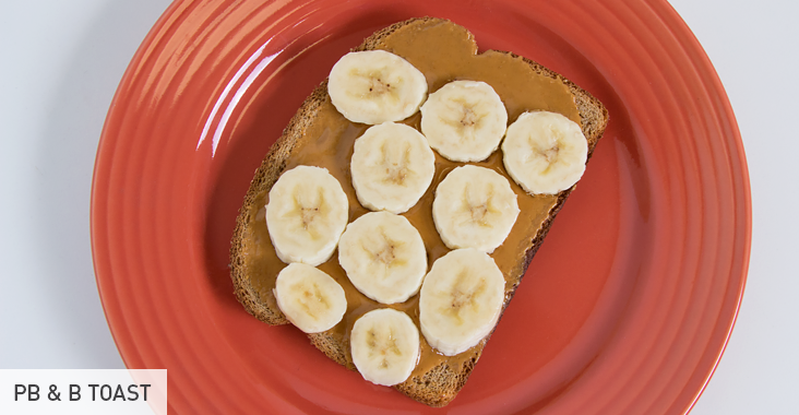 Pre- and Post-Workout Snacks: PB & B Toast