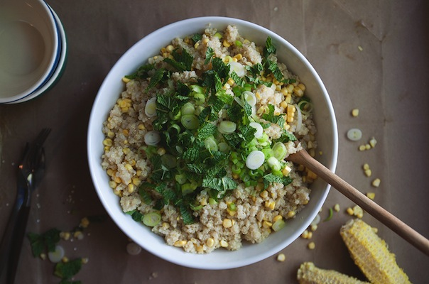 Quinoa with Corn and Mint