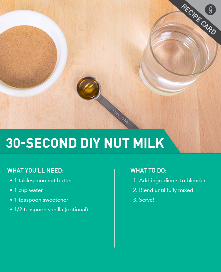 Recipe: 30-Second Nut Milk