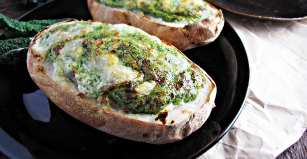 Twice-Baked Broccoli-and-Kale-Stuffed Potatoes