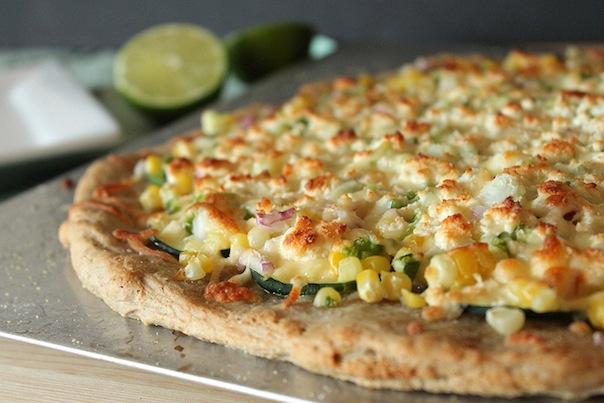 Zucchini Corn Pizza