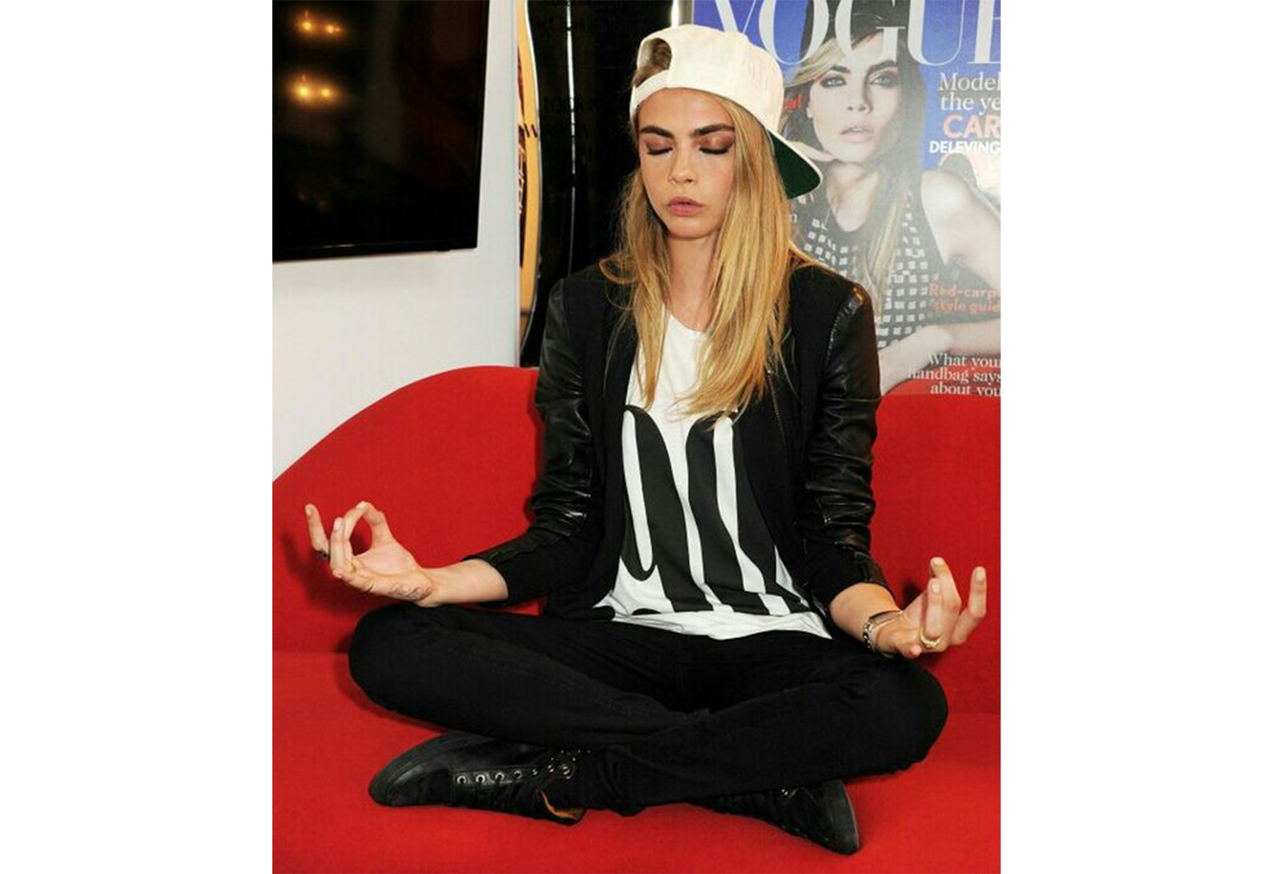 Cara Delevingne Practices Yoga to Cope With Depression