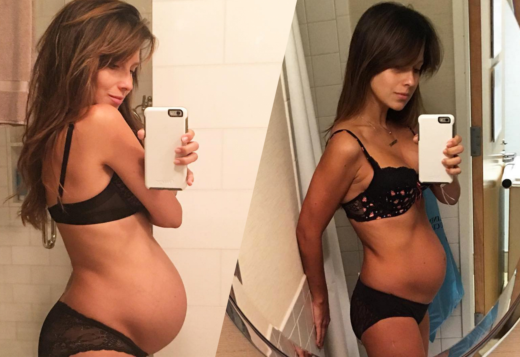 pics Pregnant Abs Model Shares Post-Birth Selfie