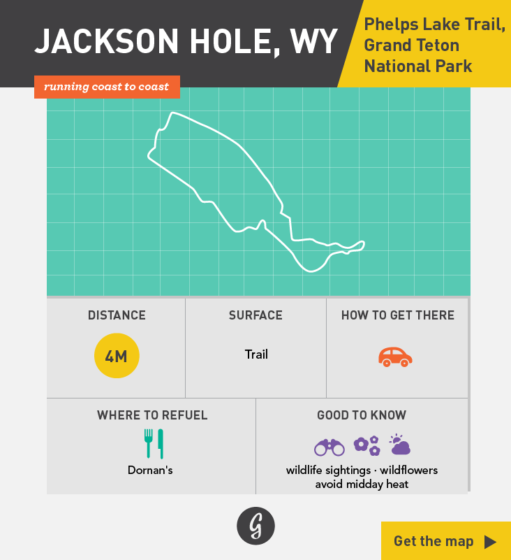 Greatist Running Routes Coast to Coast: Jackson Hole, WY