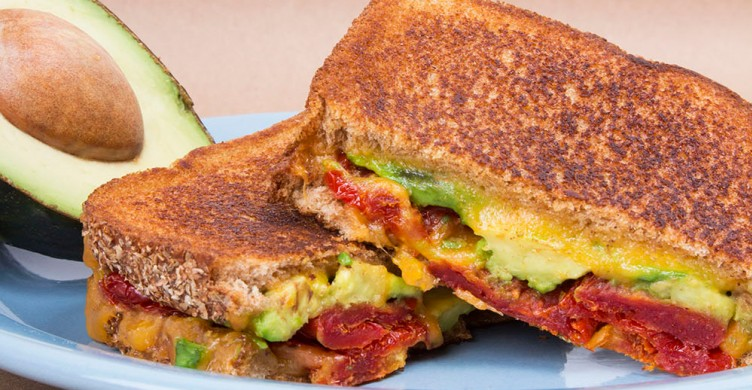 Sun-Dried Tomato and Avocado Grilled Cheese Recipe | Greatist