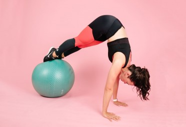 Back pain: exercise ball plank