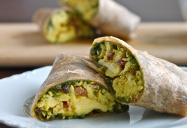 Green Eggs and Ham Breakfast Burrito