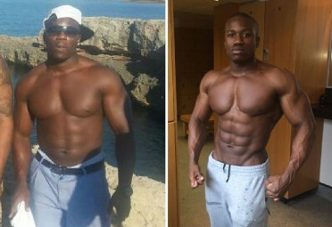 Getting Huge at Gym Before and After