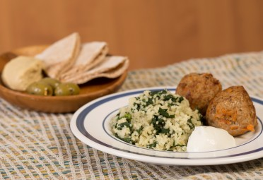 Serve with hummus and couscous for an easy meal
