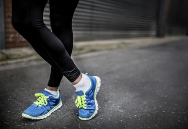 Woman Wearing Running Tights