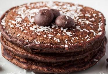 Mocha Coconut Pancakes