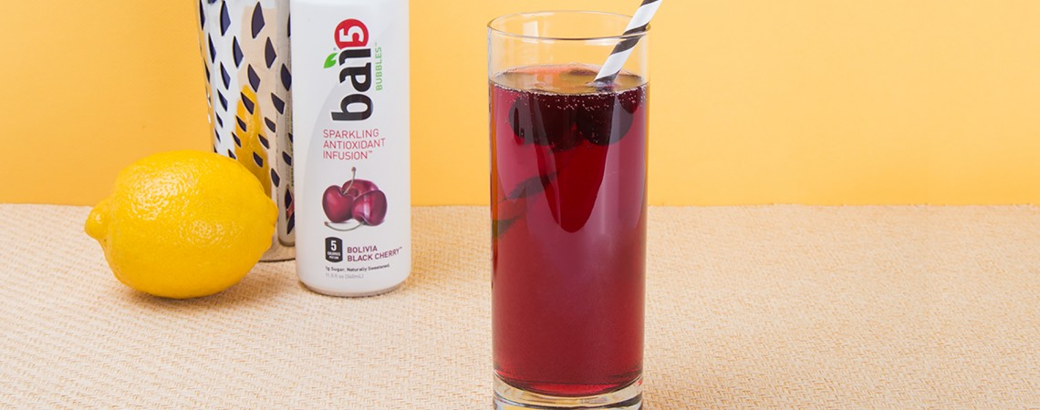 Sparkling Black Cherry Cocktail