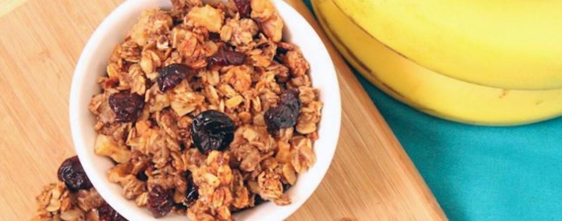 Banana, Walnut, and Cranberry Granola