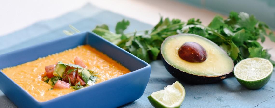 No-Cook Corn Chowder With Avocado Salsa