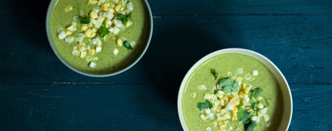 Creamy Asparagus and Sweet Corn Soup
