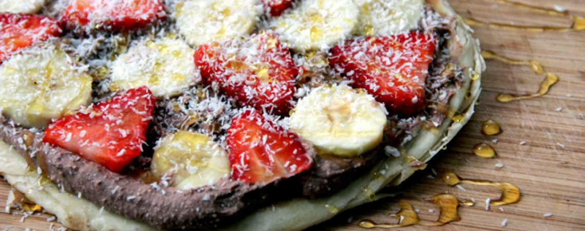 Fruit Pizza With Chocolate-Coconut Cream