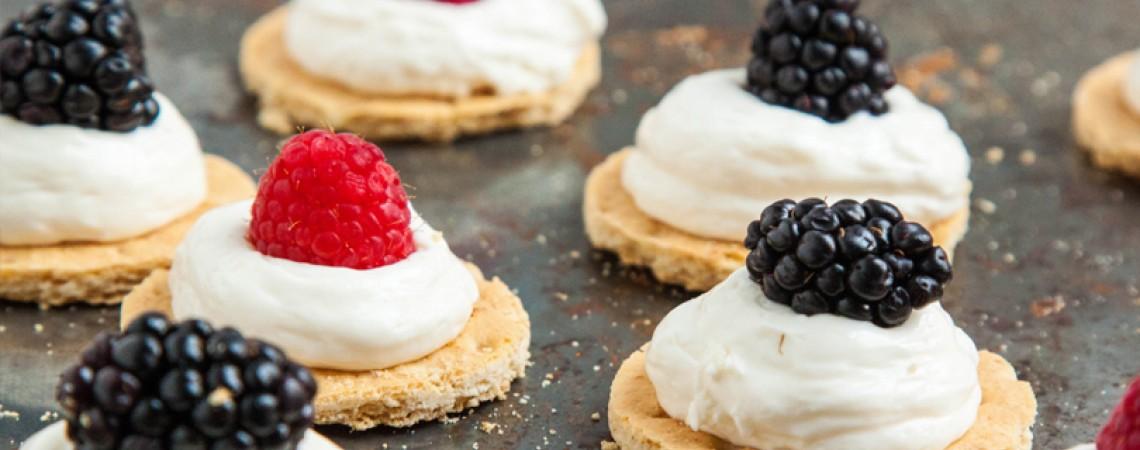 Healthier No-Bake Cheesecake Bites