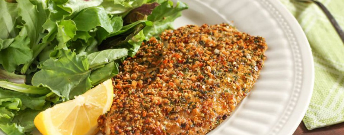 Cripsy Herb- and Hemp-Crusted Tilapia