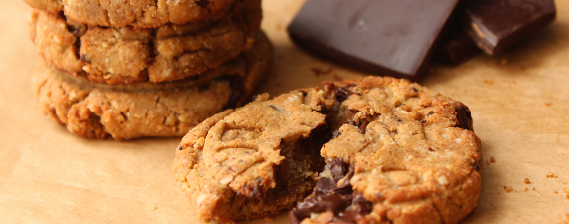 Dark Chocolate and Almond Protein Cookies